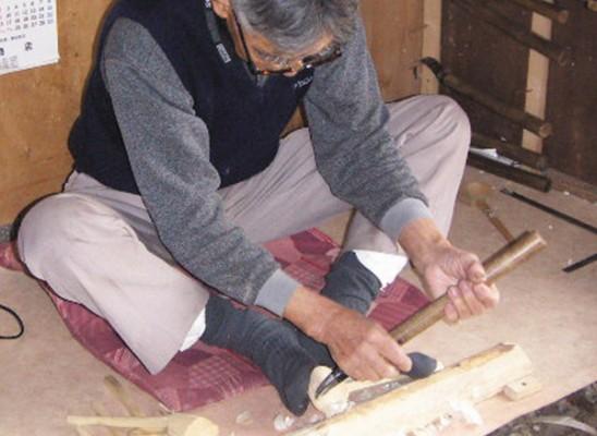 朴の木の木杓子