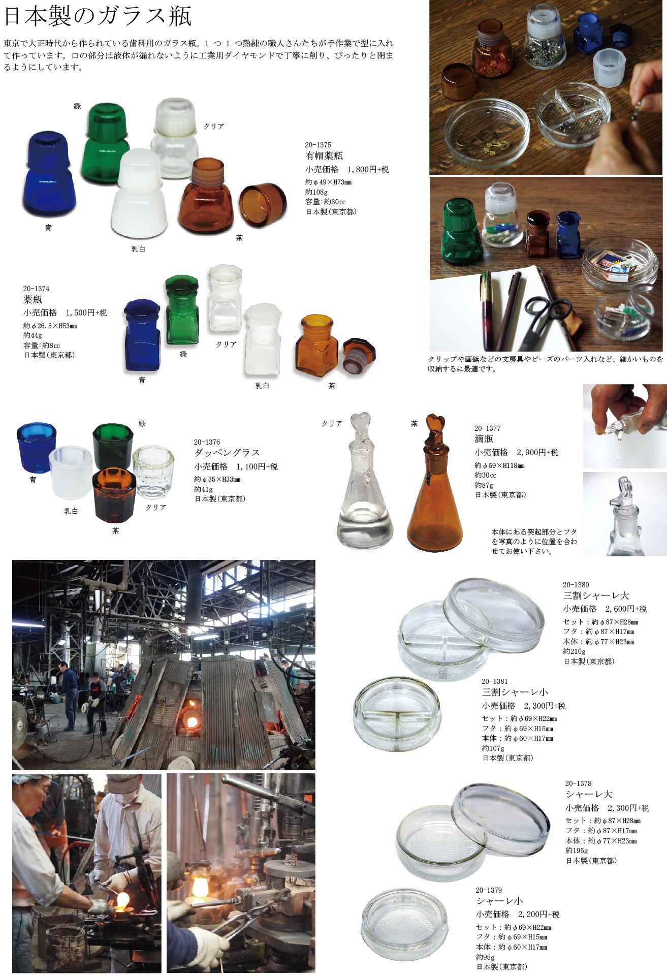 日本製のガラス瓶